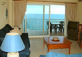 View from the lounge to the beaches of Fuengirola and Los Boliches
